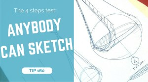 TIP 160 Anybody can sketch. 4 steps test. The design sketchbook - Product and Industrial design sketching tutorial