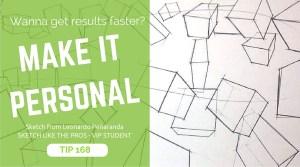 TIP 168 Want to learn sketching faster- Make it personal. The design sketchbook - Product and industrial design sketching tutorial - Leonardo Penaranda