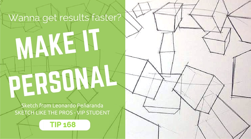 TIP 168 Want to learn sketching faster- Make it personal. The design sketchbook - Product and industrial design sketching tutorial - Leonardo Penaranda