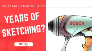 TIP 173 What matter more than years of sketching - The design sketchbook - product and industrial design sketching tutorial blog