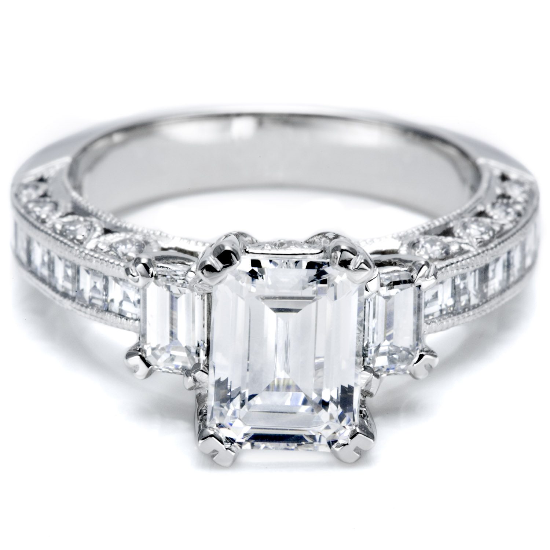 three stone diamond rings sparkling symbolism different wedding rings Three Stone Diamond Ring Styles