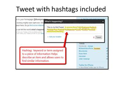tweet with hastags