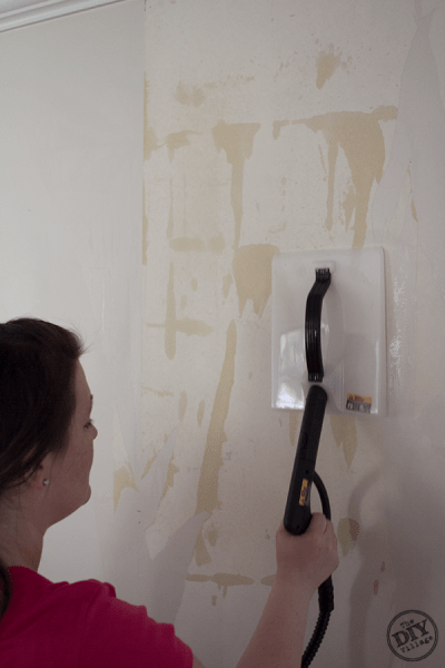 Easy Wallpaper Removal With the HomeRight SteamMachine - The DIY Village