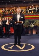 Paul Krugman accepting the 2008 Nobel Prize in Economic Sciences (photo from NobelPrize.org)