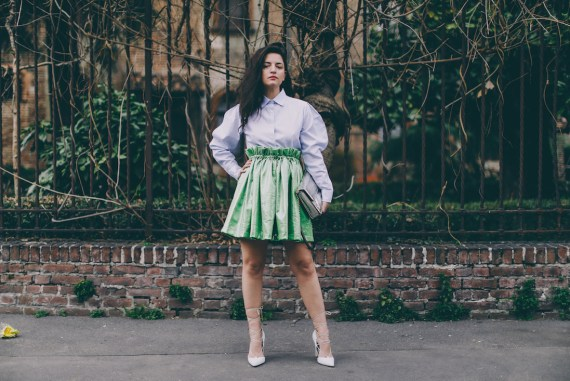 alcoolique green skirt FW17 collection