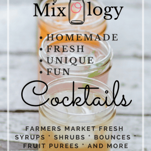 Wildflower Mixology Ebook by Jennifer Gomes | Get the ebook that teaches you how to make farmer's market fresh, easy, homemade cocktail mixers like shrubs, bounces, fruit purees and more!