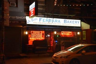 A historic bakery, the first, in Little Italy, right across from our apartment (photo by David).