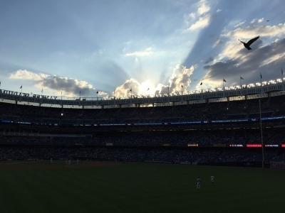 Nice sunset over Yankee Stadium.