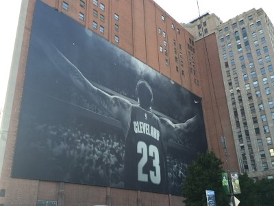 On the way to Progressive Field, I came upon this mural....
