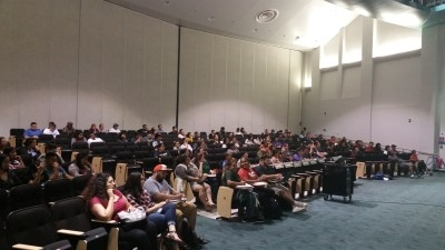 Another view of the audience (courtesy of Michelle Hart).