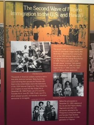 The second wave of Filipino immigrants