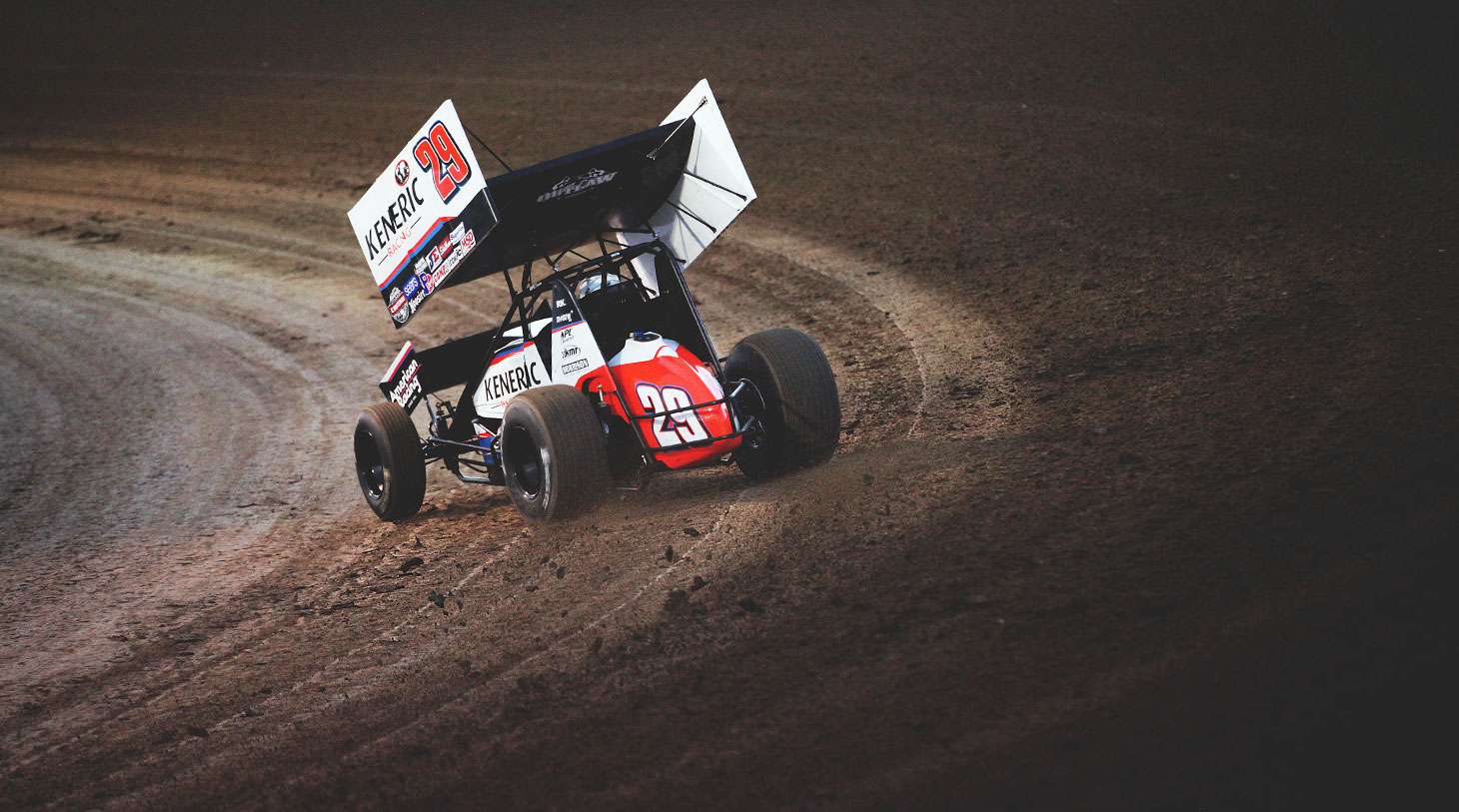 Kerry Madsen driving the Keneric American Racing; no.29 sprint car | photo: Jeffrey Turford