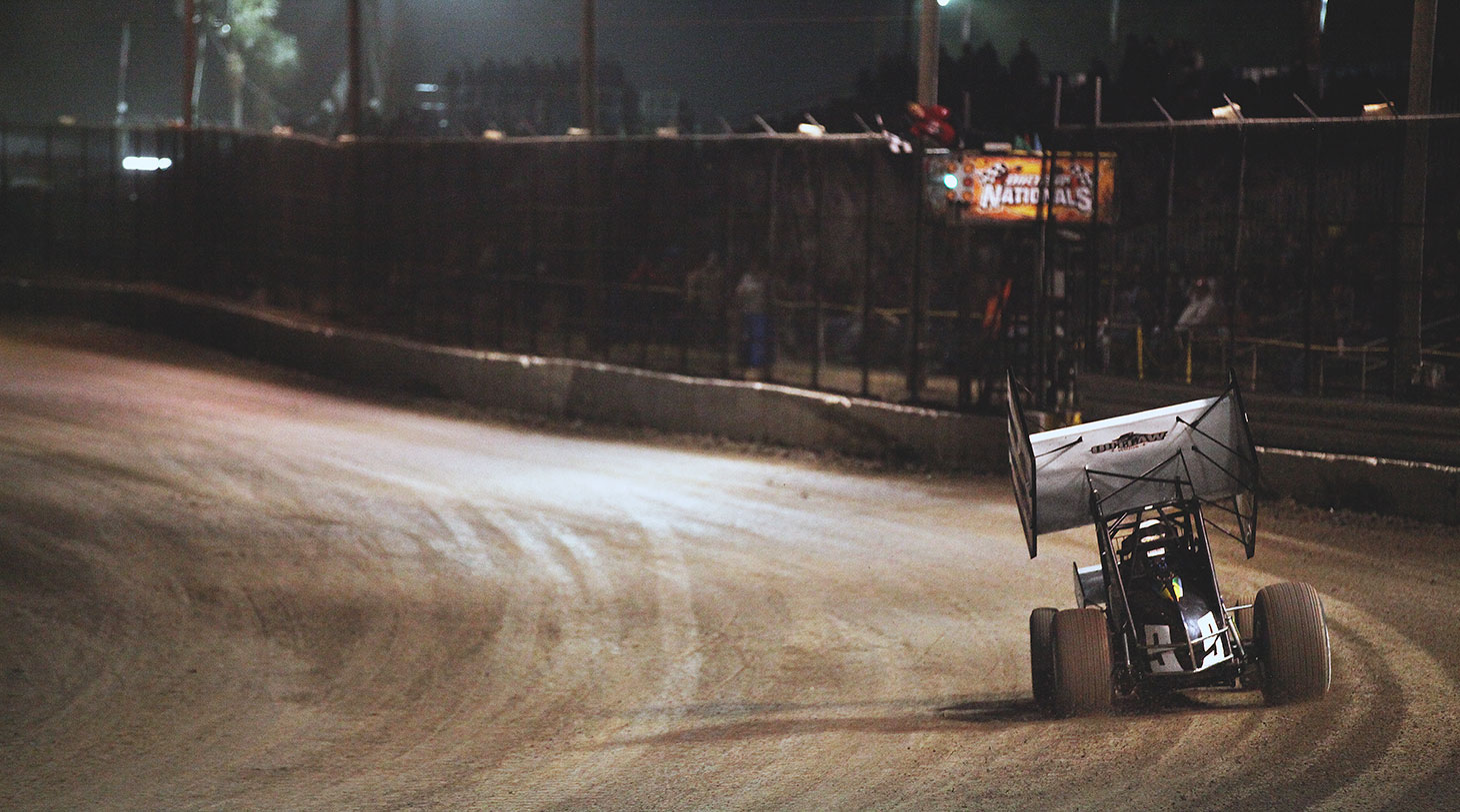 Daryn Pittman coming out of turn 4 at Volusia Speedway in Florida. | Photography: Jeffrey Turford