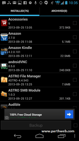 android super backup