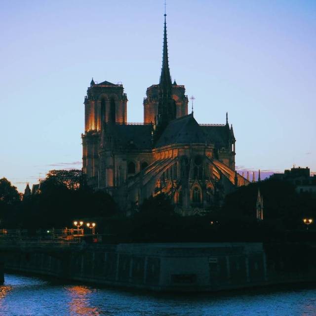 The Notre Same Cathedral at sunset It was just ahellip