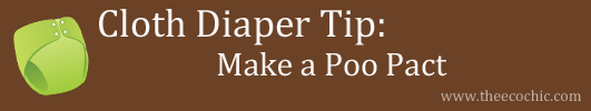 Cloth Diaper Tip - Make A Poo Pact