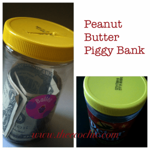 Peanut Butter Piggy Bank