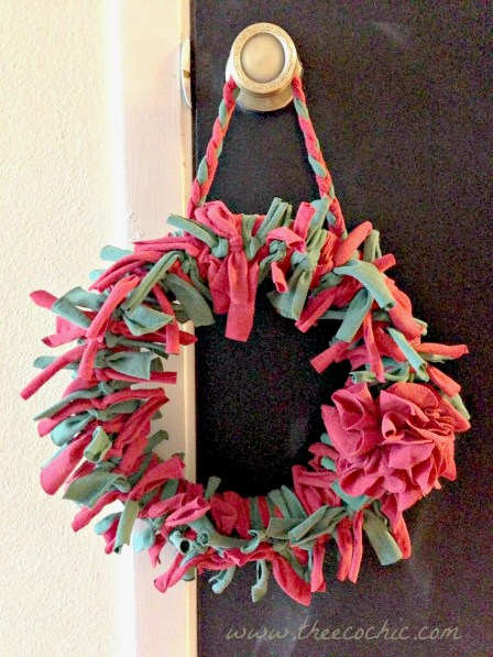 Upcycled Tshirt Wreath