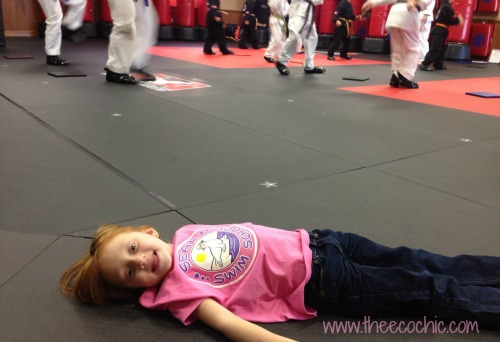 Napping at Karate