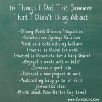10ThingsIDidThisSummer