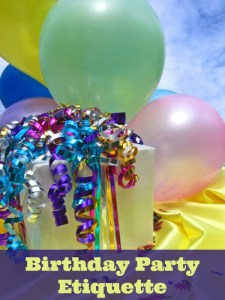 Birthday Party Etiquette @TBMomBlog
