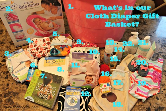 What's in our cloth diaper gift basket