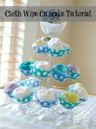 Cloth Wipe Cupcakes from Change-Diapers