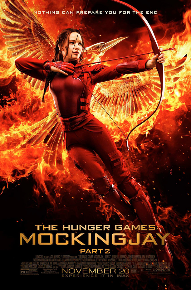 Katniss Everdeen is the revolutionary Mockingjay in the franchise's final film,  still in select theaters now. Photo Credit: Courtesy of Lionsgate