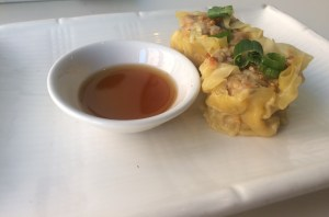 Bangkok Cuisine's Lunch special gives you a choice of dumplings (left) or spring rolls (Above).