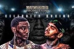 Promotional Poster Uploaded from 50 Cent on Instagram showcasing both Soulja Boy (left) and Chris Brown (Right)