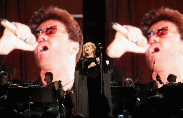 "Adele performing ""Fast Love"" a tribute to George Michael. Photo Credit: The Recording Academy"