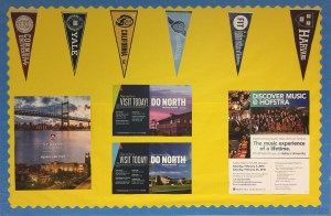 Edison's potential colleges bulletin board display near the college office. Photo Credits: Aneesa Asgarali