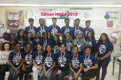The HOSA: Future Health Professionals Chapter at Thomas Edison C.T.E. Photo Credit:  Margaret Savitzky