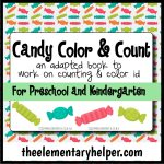 Candy Color and Count Adapted Book for Preschool & Kinder