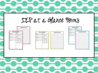 Organizing IEP Information {PLUS a FREEBIE}