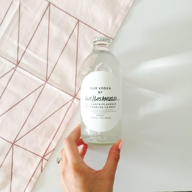 Our/Los Angeles vodka bottle