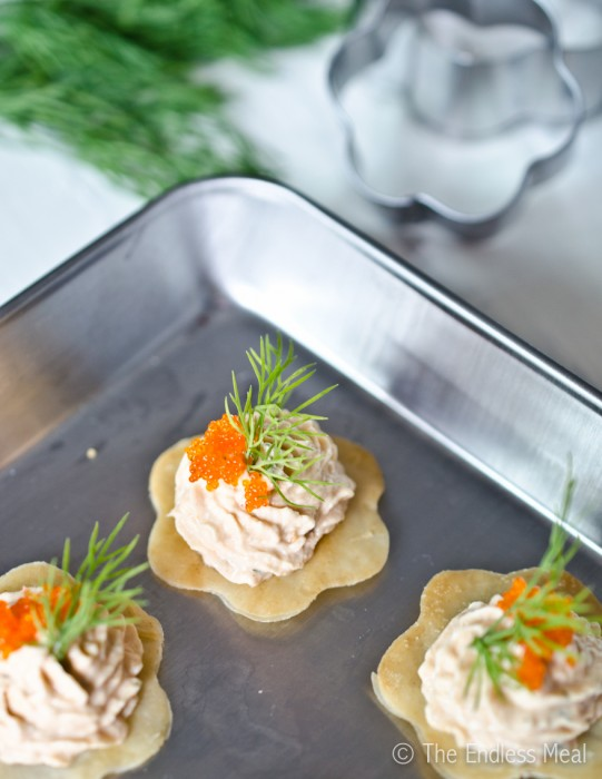 Paleo Pressed Smoked Salmon Mousse Appetizer
