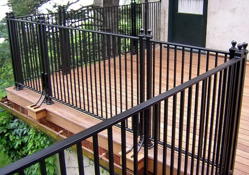 Medium Of Metal Deck Railing