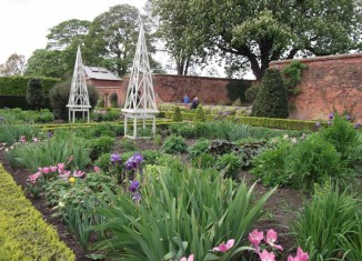 The walled garden at Castle Bromwich Hall in spring