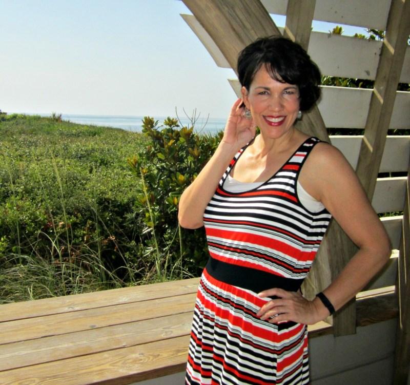 Seaside, Florida In A Fabulous Hi-Lo Dress