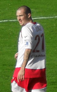 Number 21: Cole playing for Stevenage