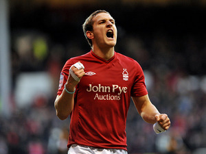 Sharp shooter: Billy Sharp celebrates scoring against Leeds