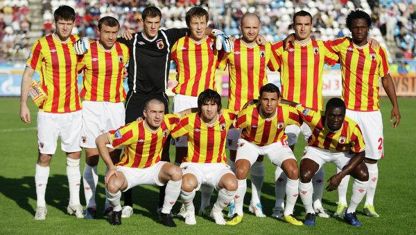 Caucasus breakthrough: Alania Vladikavkaz, pictured in 2012, won the 1995 Russian Premier League title