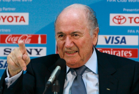 Back off! FIFA President, Sepp Blatter, advocates the continuation of the independent Russian and Ukrainian leagues