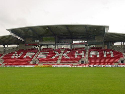 The oldest stadium in the world to still host international matches - Wrexham's Racecourse stadium