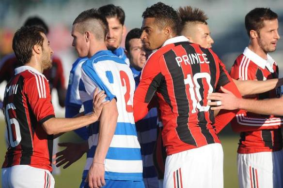 Flashpoint: Players from Pro Patria & AC Milan scuffle as Prince-Boateng makes his stand