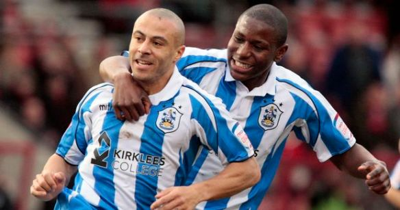 Afobe enjoying better times at Huddersfield with Danny Cadamarteri