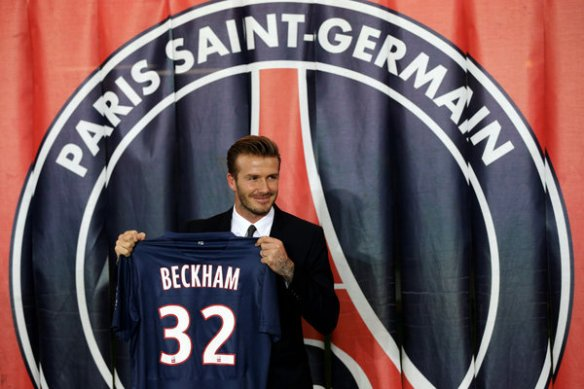 Beckham: the brand has landed.