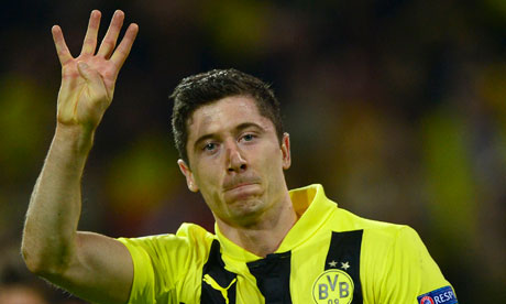 Robert Lewandowski of Borussia Dortmund