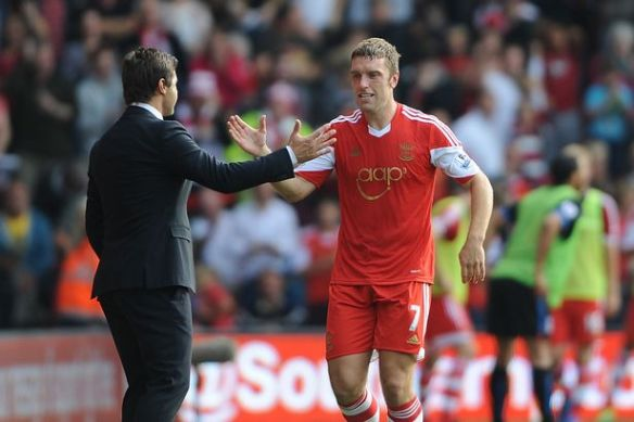 Southamptons-Rickie-Lambert-celebrates-scoring-his-sides-second-goal-with-manager-Mauricio-Pochettino-2315464